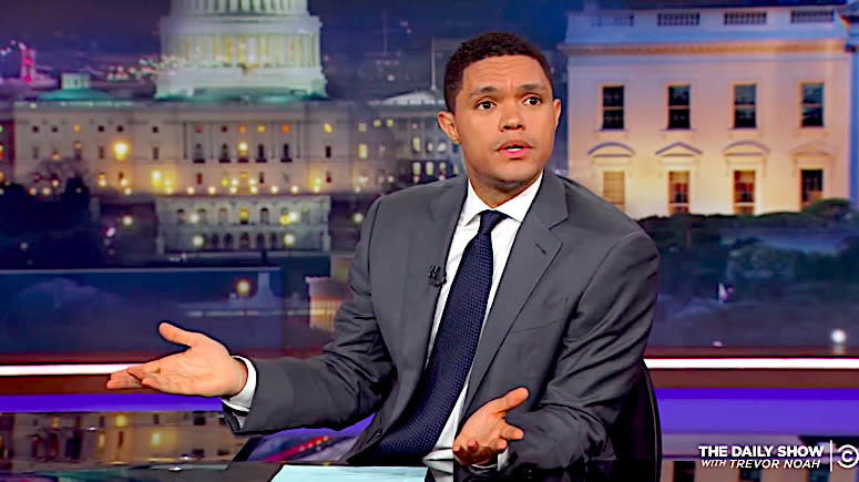 Trevor Noah Baffled By Trump's Claim That He Saw Harvey Devastation 'Firsthand'