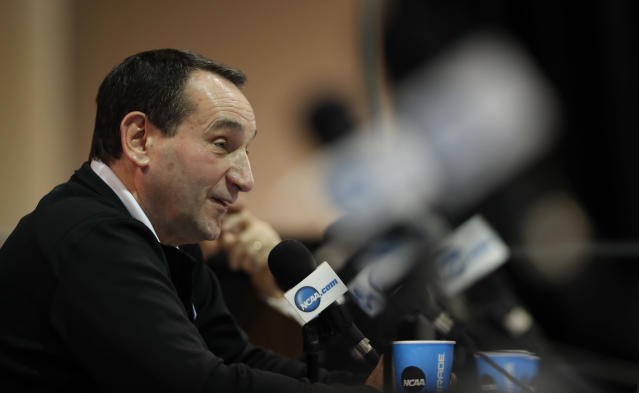 Duke head coach Mike Krzyzewski just reeled in another star 2018 recruit. (AP Photo/Charlie Neibergall)