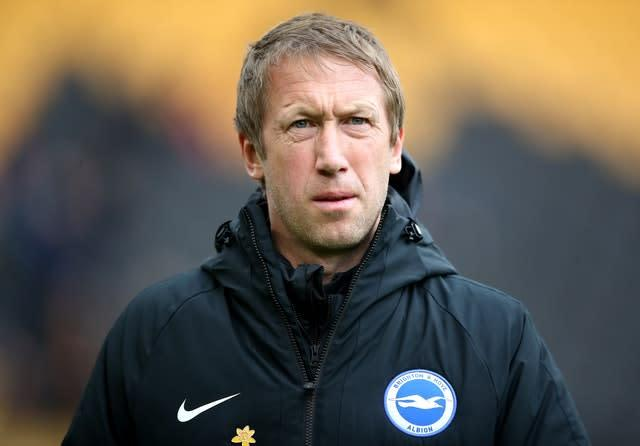 Brighton, managed by Graham Potter, sit 15th in the Premier League table (/PA)