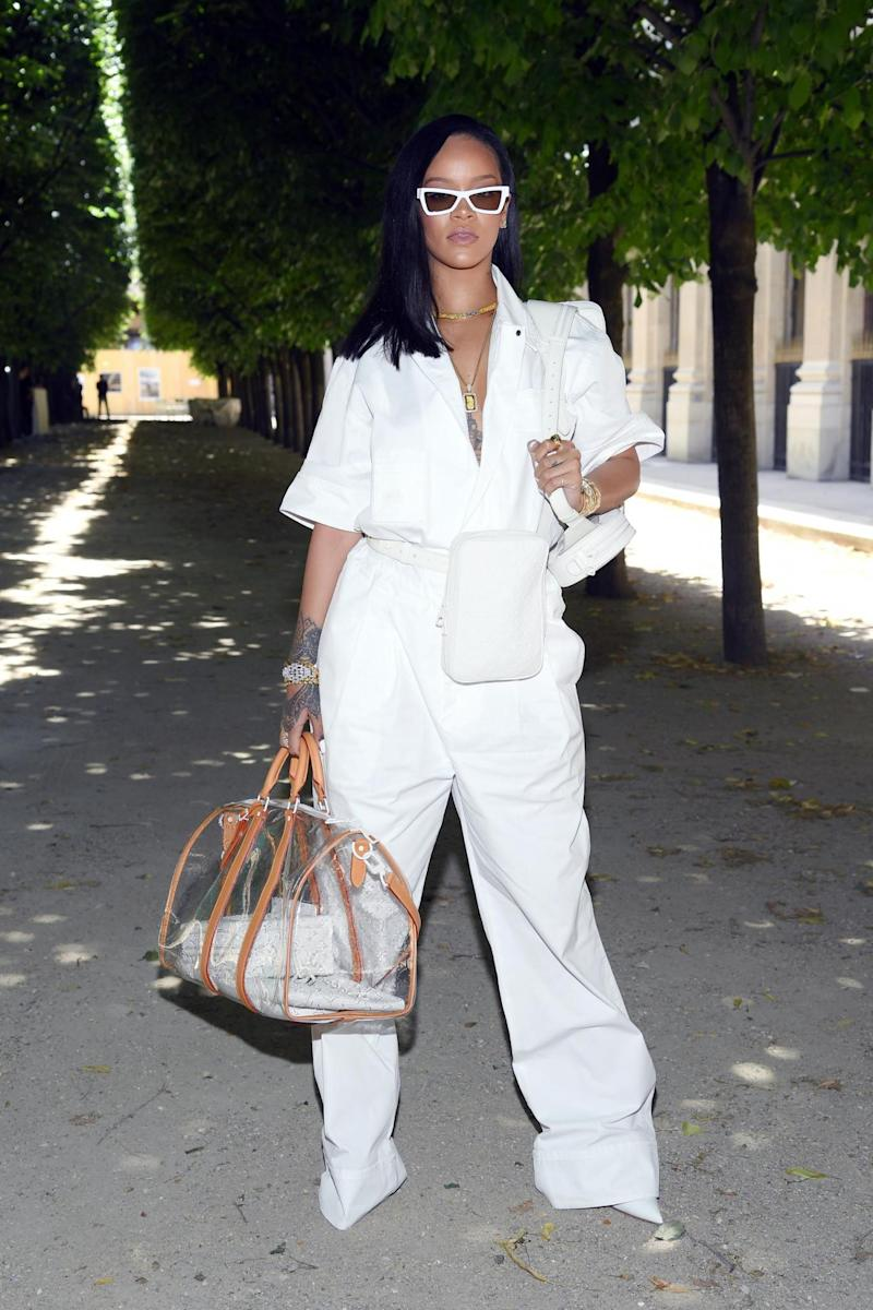 Rihanna attends the Louis Vuitton Menswear Spring/Summer 2019 show (Getty Images)