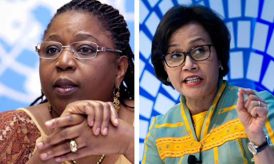 Dr. Awa Marie Coll-Seck, left, and Sri Mulyani Indrawati (Photo: AP Images/Shutterstock)
