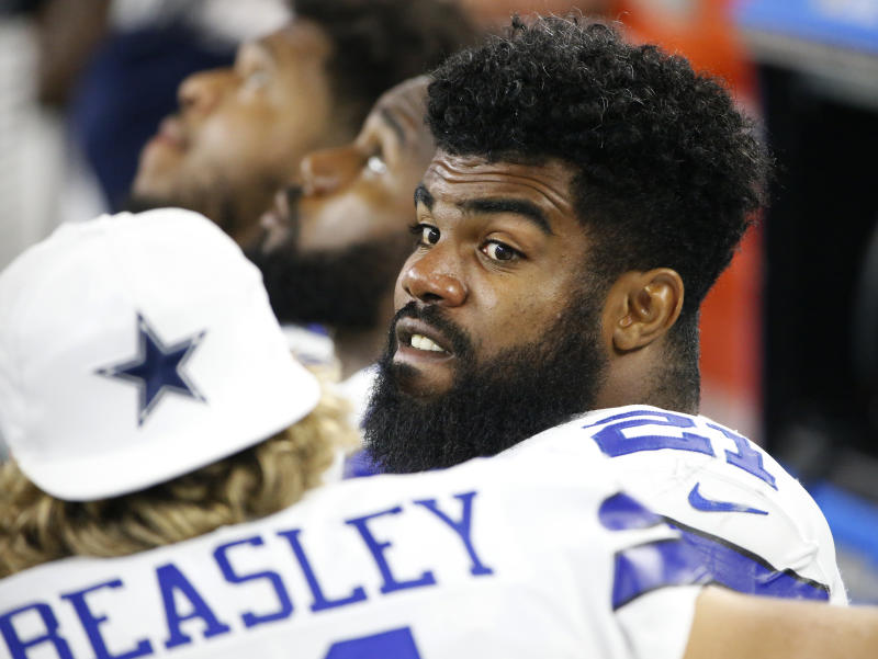 Ezekiel Elliott's appeal hearing for his six-game suspension is Tuesday. (AP)
