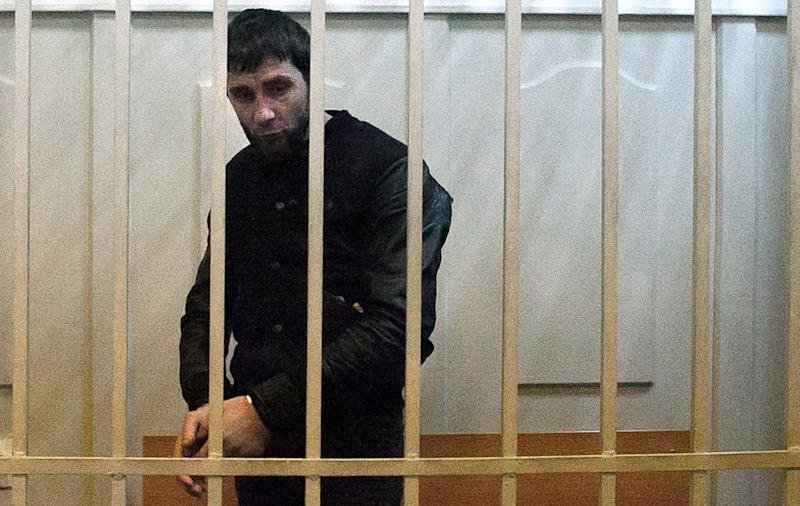 Zaur Dadayev, charged with the murder of Russian opposition figure Boris Nemtsov, pictured at Basmanny district court in Moscow, on March 8, 2015 (AFP Photo/Philipp Kireev)