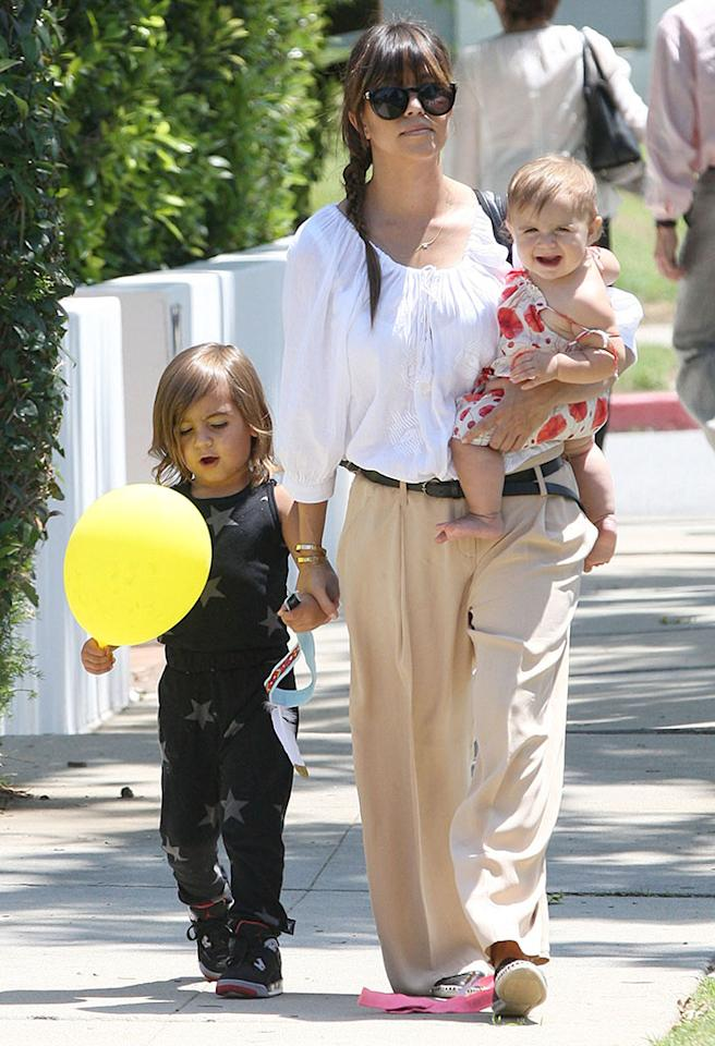 51124108 Reality star Kourtney Kardashian and her kids Mason and Penelope out with a friend in Los Angeles, California on June 8, 2013. FameFlynet, Inc - Beverly Hills, CA, USA - 1 (818) 307-4813