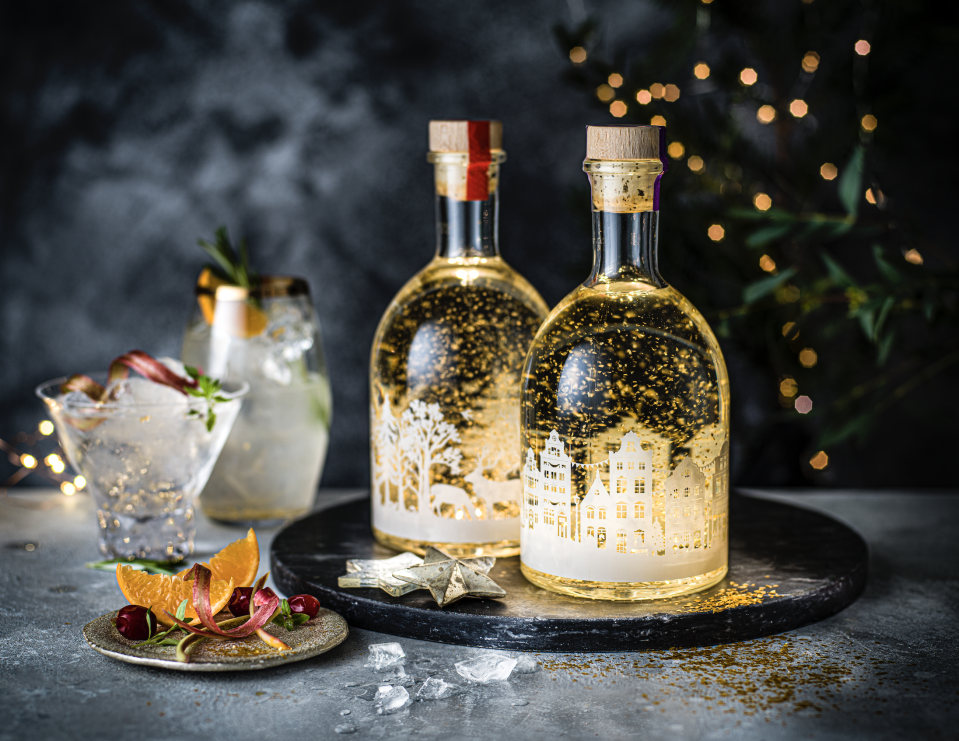 Expect a scramble for M&S snow globe gin with added sparkle this year. (M&S)