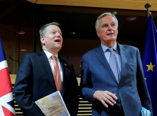 Sources said UK Brexit negotiator David Frost and his EU opposite number Michel Barnier did not shake hands because of fears over the coronavirus