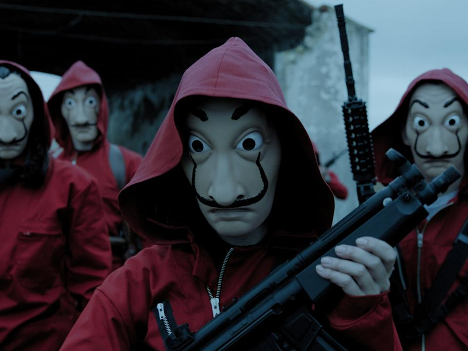 <p>The Dalí masks and red boilersuits of 'Money Heist' have become a symbol of resistance beyond the series, having been used in political protests in Puerto Rico</p>Netflix