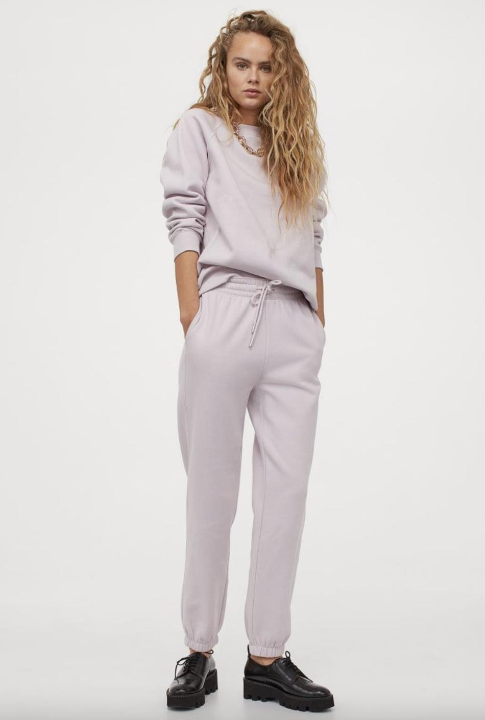 <p>We love the dusty pink hue of these <span>Cotton-blend Sweatpants</span> ($18).</p>