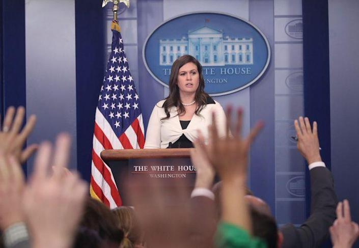 White House deputy press secretary Sarah Huckabee Sanders. (Photo: Mark Wilson/Getty Images)