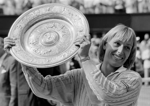 Martina Navratilova won nine WImbledon singles titles (PA)