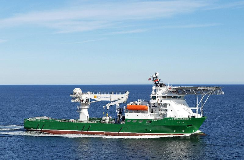 Havila Harmony, one of three ships scouring the southern Indian Ocean for the remains of missing Malaysia Airlines flight MH370 (AFP Photo/FUGRO)