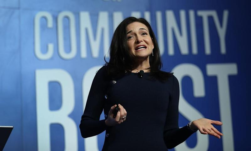 Facebook Chief Operating Officer Sheryl Sandberg speaks during a Facebook community boost event at the Knight Center on 18 December in Miami, Florida.