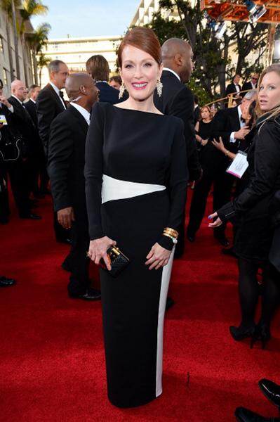 "<div class=""caption-credit""> Photo by: Getty Images</div><div class=""caption-title""></div><b>BEST: Julianne Moore</b> <br> The contrasting black and white colorblocking on this Tom Ford gown is so striking and modern."