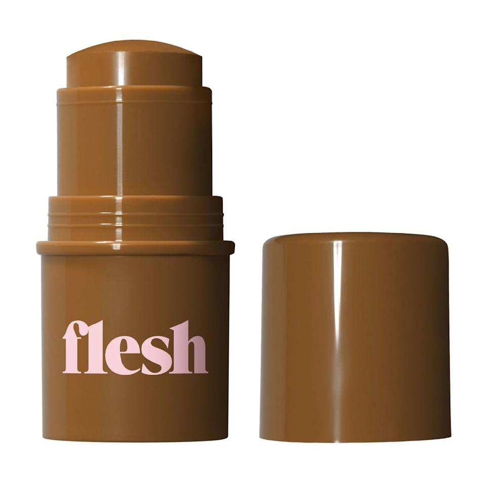 "<p>Available in a whopping 40 shades that cater to all skin colors and undertones, this chubby stick base from <a href=""https://www.allure.com/story/flesh-beauty-launch-at-ulta?mbid=synd_yahoo_rss"">Linda Wells's brand-new Flesh Beauty</a> checks all the boxes. With a dewy finish and buildable coverage — meaning you can get away with wearing it light, medium, <em>or</em> full — it's a foundation that can work with every skin type. Those with redness or acne can swipe it on to diffuse blemishes and impart a healthy sheen. But really, it doesn't matter what state your skin is in because regardless, it's able to enhance it in a beautifully natural way. Makeup artist <a href=""https://www.instagram.com/beautyisboring_/"">Robin Black</a> got her hands on some items from the line and was incredibly impressed by this product, in particular: ""They come in a brilliant range of shades and blend seamlessly into the skin — and they also double as a natural-looking contour or lightweight concealer,"" she says. ""Plus, the small size is travel, desk, and cross-body bag friendly.""</p> <p><strong>$18</strong> (<a href=""https://shop-links.co/1644073884976861338"" rel=""nofollow"">Shop Now</a>)</p>"