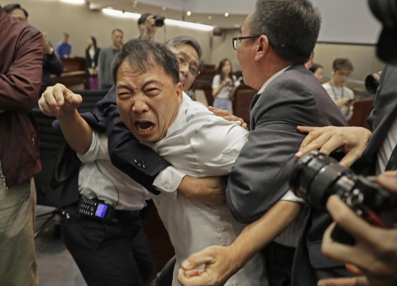 IMG CHAOS at Hong Kong Parliament