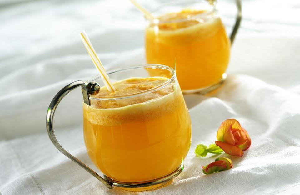 """<p>Combine Ocean Spray's white cranberry and peach juice with lemon-lime soda and orange juice, adding some lime or orange sherbet on top to make it a <a href=""""https://www.thedailymeal.com/cook/dessert-recipes-frozen-fruit?referrer=yahoo&category=beauty_food&include_utm=1&utm_medium=referral&utm_source=yahoo&utm_campaign=feed"""" rel=""""nofollow noopener"""" target=""""_blank"""" data-ylk=""""slk:fruity, frozen treat"""" class=""""link rapid-noclick-resp"""">fruity, frozen treat</a>.</p> <p><a href=""""https://www.thedailymeal.com/recipes/white-cranberry-peach-party-punch-mocktail?referrer=yahoo&category=beauty_food&include_utm=1&utm_medium=referral&utm_source=yahoo&utm_campaign=feed"""" rel=""""nofollow noopener"""" target=""""_blank"""" data-ylk=""""slk:For the White Cranberry Peach Party Punch recipe, click here."""" class=""""link rapid-noclick-resp"""">For the White Cranberry Peach Party Punch recipe, click here.</a></p>"""