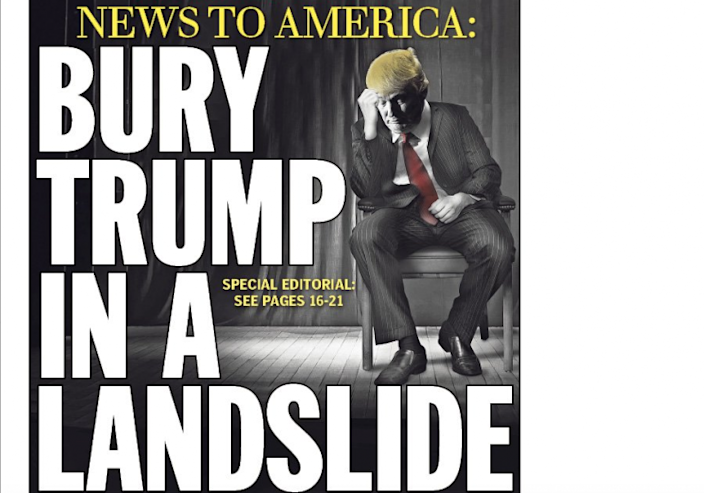 Part of the Daily News' Friday cover.