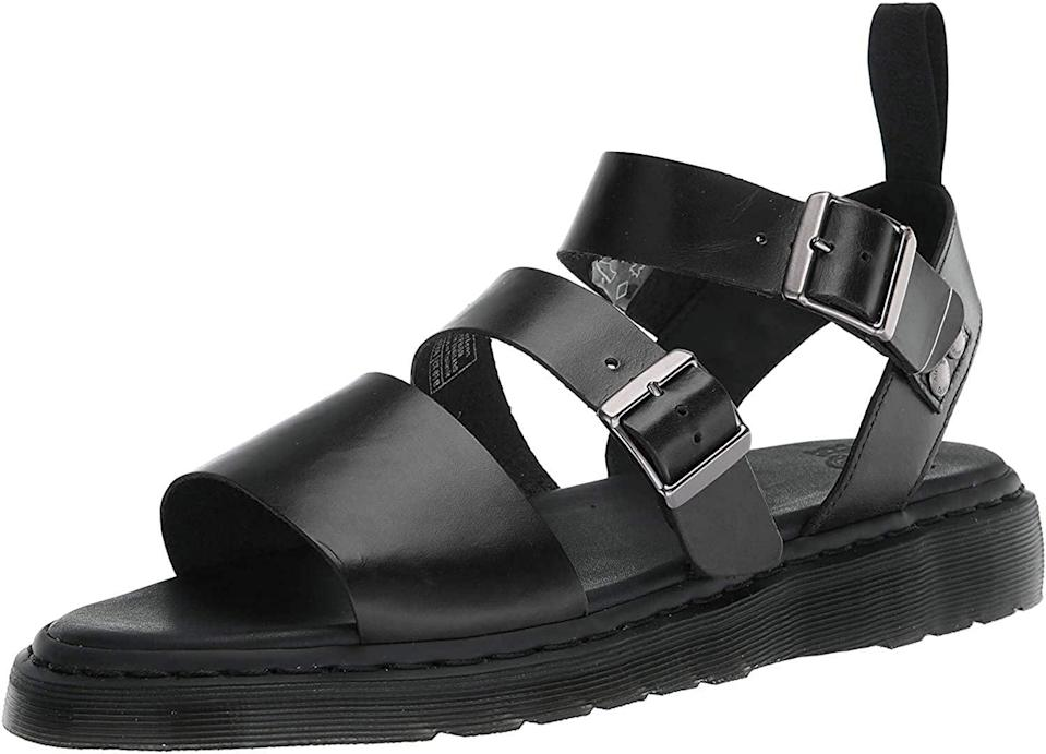 <p>These <span>Dr. Martens Unisex Gryphon Gladiator Sandal</span> ($68 - $160) look edgy and sleek, making them a worthy investment.</p>
