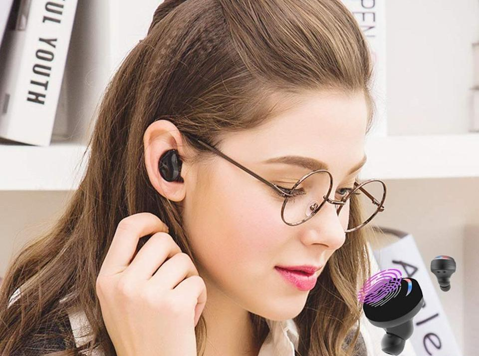 Edyell Wireless Earbuds are on sale for nearly 75 percent off. (Photo: Amazon)