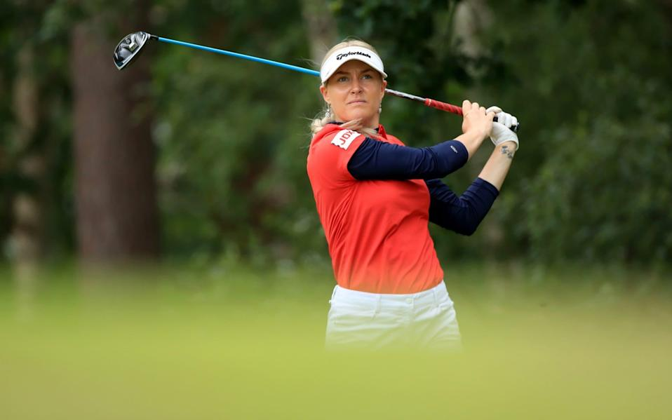 Charley Hull wrested back all but one of the six-shot deficit she had conceded to Alice Hewson - Getty Images