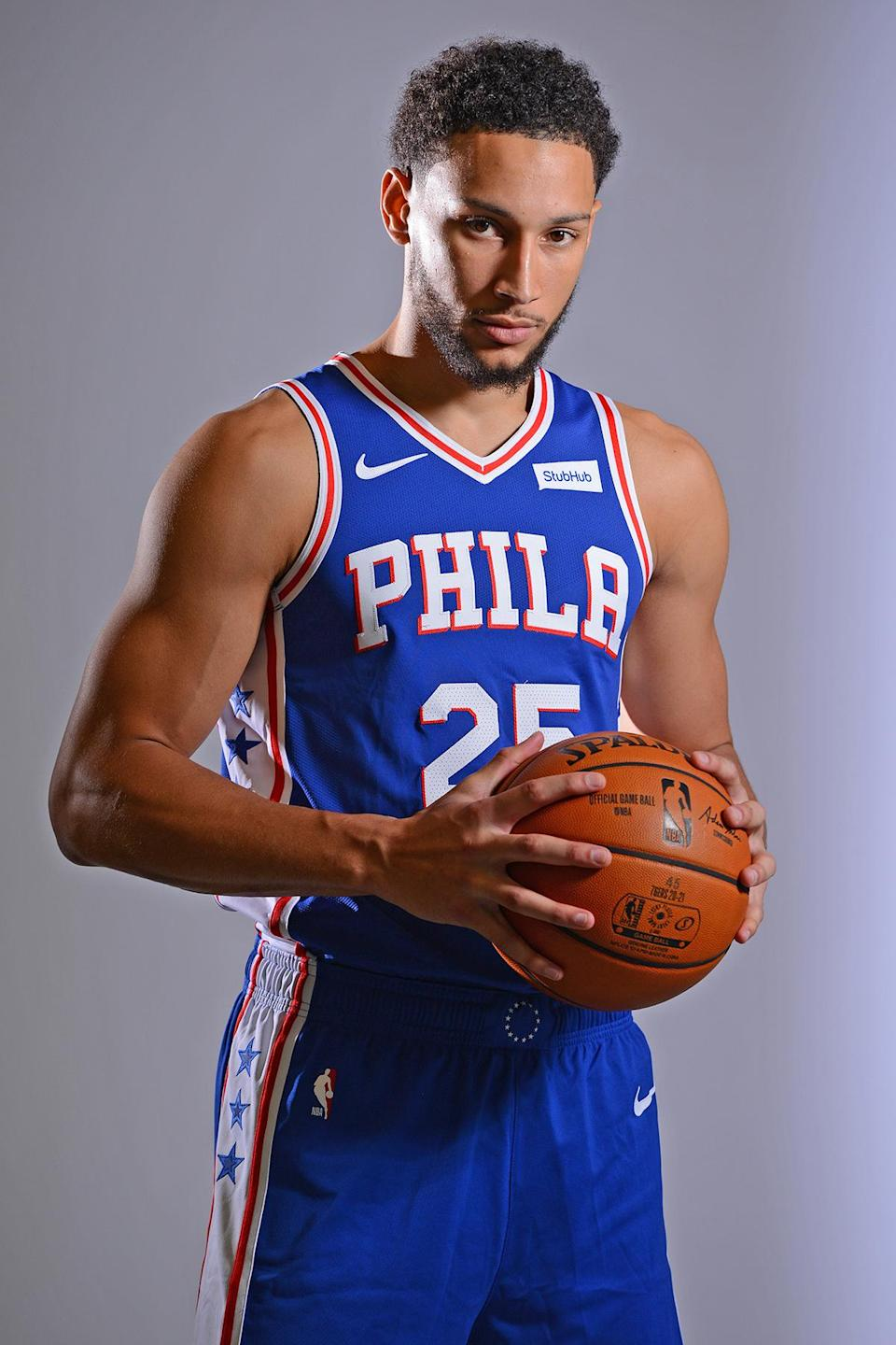 <p>The Philadelphia 76ers player is a three-time NBA All-Star.</p>