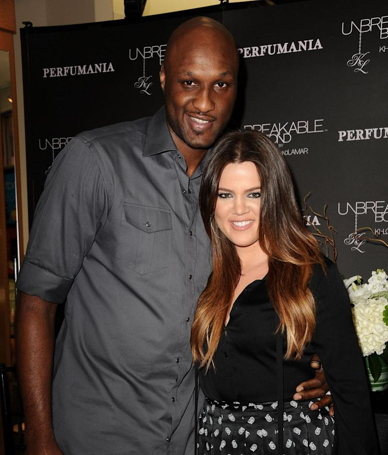 Khloe and Lamar pictured here in 2012 before she filed for divorce in 2013. Source: Getty