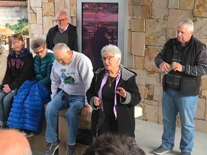 Boise's Joan Katizian tells the story of his mother, who was led to a death march during the 1915 Armenian Genocide, on Saturday, but only