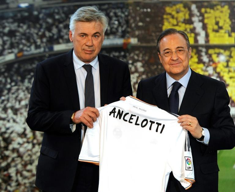 Carlo Ancelotti (L) won the 2014 Champions League during his first spell as Real Madrid coach