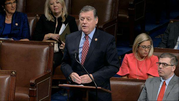 PHOTO: House Rules Committee ranking member Rep. Tom Cole speaks as the House of Representatives debates the articles of impeachment against President Donald Trump at the Capitol in Washington, Dec. 18, 2019. (House Television via AP)