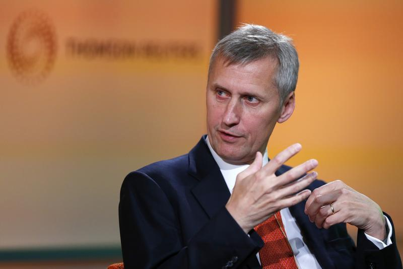 Martin Wheatley, managing director of Britain's Financial Services Authority and CEO designate of the new Financial Conduct Authority, speaks at a Thomson Reuters Newsmaker event, in east London