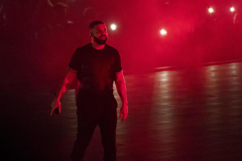 Drake performs on stage on Tuesday, Aug. 21, 2018, in Toronto, Canada. (Photo by Arthur Mola/Invision/AP)