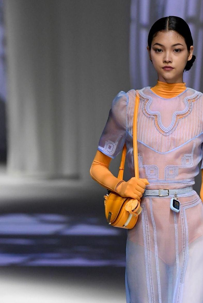 <p>A bag from the Fendi spring/summer 2021 runway.</p>