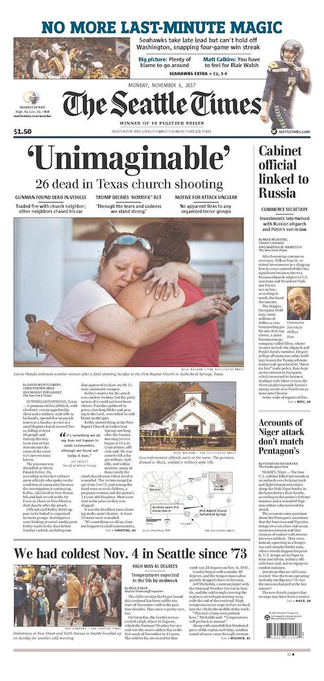 <p>THE SEATTLE TIMES<br> Published in Seattle, Wash. USA. (newseum.org) </p>