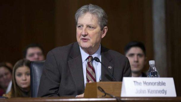 PHOTO: Senator John Kennedy speaks during the Senate Committee on Energy and Natural Resources hearing considering the nomination of Dan Brouillette to be Secretary of Energy on Capitol Hill in Washington, Nov. 14, 2019. (Stefani Reynolds/Picture Alliance/CNP via Newscom)