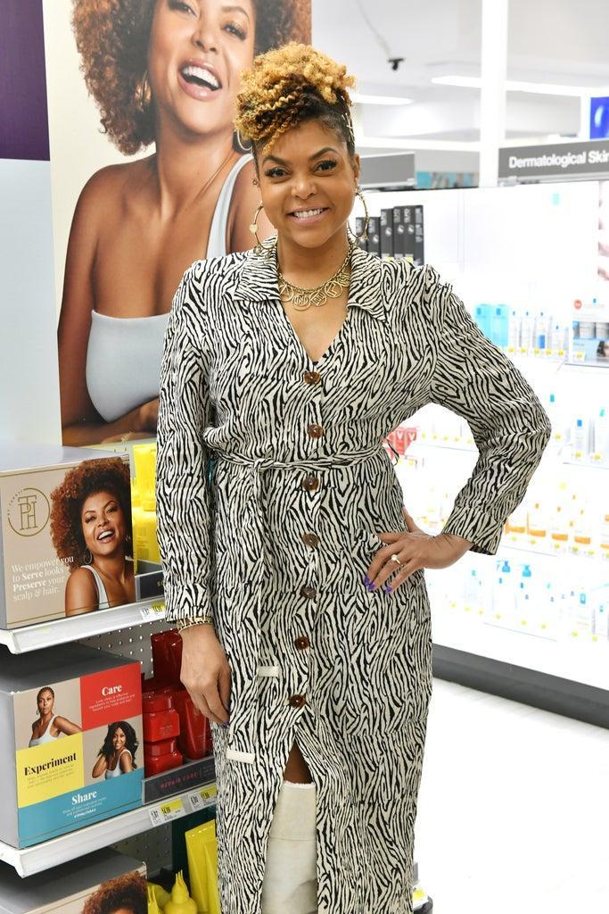 NEW YORK, NEW YORK – JANUARY 24: Taraji P. Henson poses as the actress surprises guests at Herald Square Target Store on January 24, 2020 in New York City. (Photo by Craig Barritt/Getty Images for Target)