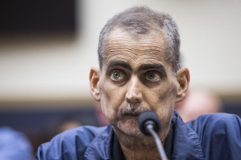 Retired NYPD detective and 9/11 responder Luis Alvarez testifies during a House Judiciary Committee hearing on reauthorization of the September 11th Victim Compensation Fund on Capitol Hill last week. (Photo: Zach Gibson/Getty Images)