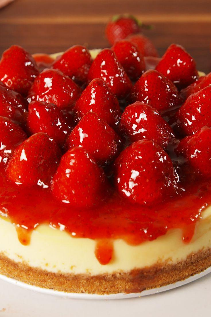 "<p>Our favorite recipe for the most classic of all cheesecakes.</p><p>Get the recipe from <a href=""https://www.delish.com/cooking/recipe-ideas/recipes/a52465/strawberry-cheesecake-recipe/"" rel=""nofollow noopener"" target=""_blank"" data-ylk=""slk:Delish"" class=""link rapid-noclick-resp"">Delish</a>. </p>"