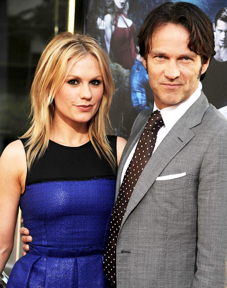 """After meeting on the show, """"True Blood"""" co-stars Anna Paquin and Stephen Moyer were married on Saturday August 21 in Malibu, California. Jeffrey Mayer/<a href=""""http://wireimage.com"""" target=""""_blank"""">WireImage</a> - June 8, 2010"""