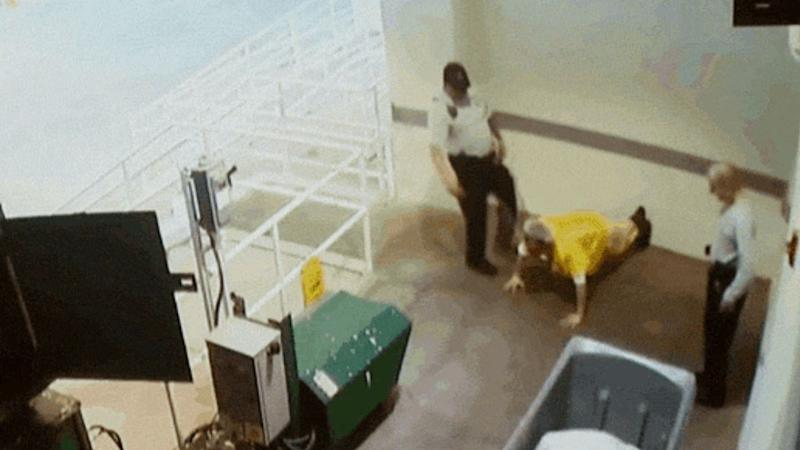 Deputy James Moran, 57, has been charged with one count of misdemeanor battery after kicking an inmate at Pinellas County Jail. (Photo: YouTube)