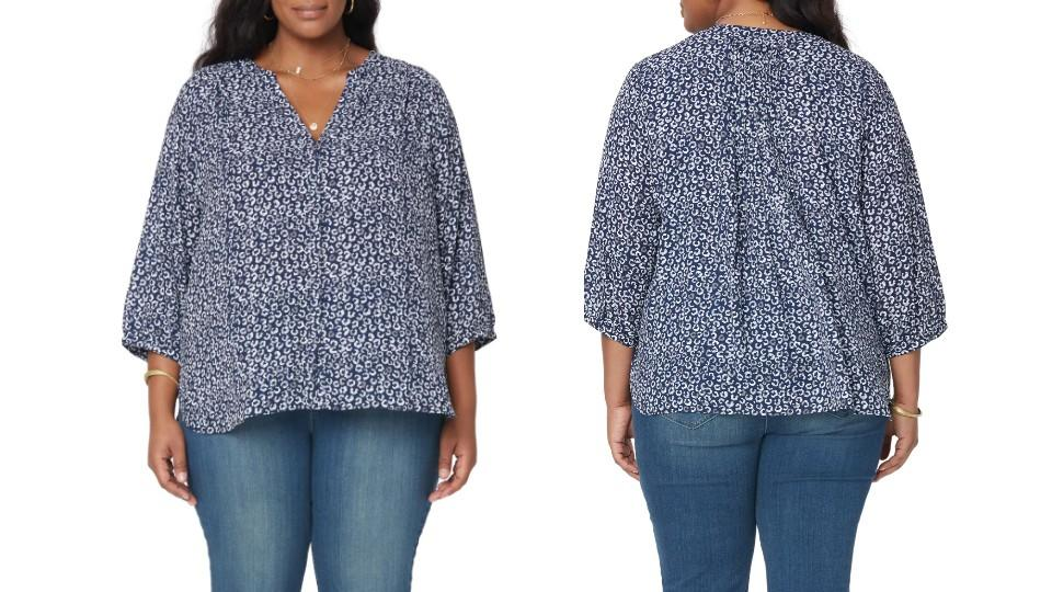 NYDJ'S Pintuck Pleat Crepe Blouse - Nordstrom, $53 (originally $89)