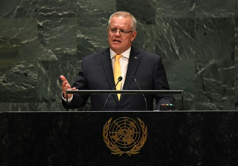 Morrison defends Australia's action on climate change at United Nations address