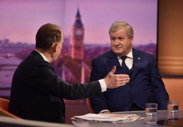 Ian Blackford being interviewed by Andrew Marr