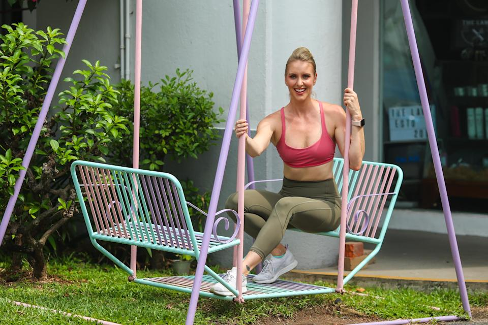 Amanda Dale's fitness inspiration is Dara Torres, the 12-time Olympic medal-winner in swimming for the United States. (PHOTO: Cheryl Tay)