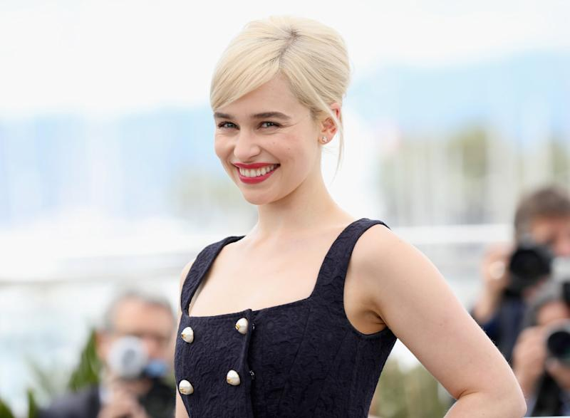 CANNES, FRANCE - MAY 15: Actress Emilia Clarke attends the photocall for