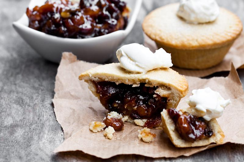 One in five adults think mince pies are best served up on their own, without any kind of topping, though if an accompaniment is a must, double cream was chosen as the best option (Photo: Getty Creative)