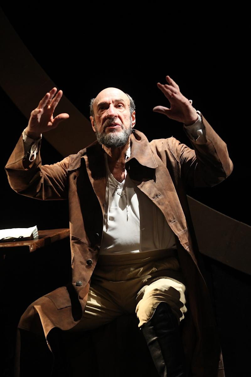"In this theater image released by The Publicity Office, F. Murray Abraham is shown during a performance of Classic Stage Company's off-Broadway production of Bertolt Brecht's ""Galileo""  in New York. (AP Photo/The Publicity Office, Joan Marcus)"