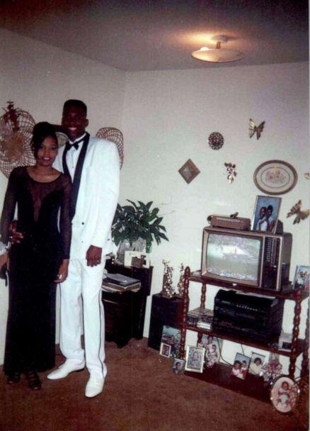 PHOTO: Lorenzen Wright pictured with Sherra Robinson before prom. (Deborah Marion)