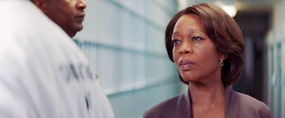 """<p>In Chinonye Chukwu's <strong>Clemency</strong>, Alfre Woodard portrays Bernadine Williams, a prison warden who has been overseeing executions for years. Her perspective shifts, however, when she befriends death-row inmate Anthony Woods (Aldis Hodge). </p> <p><a href=""""http://www.hulu.com/movie/clemency-450032e9-7499-4abf-83a2-6094a50f69fa"""" class=""""link rapid-noclick-resp"""" rel=""""nofollow noopener"""" target=""""_blank"""" data-ylk=""""slk:Watch Clemency on Hulu."""">Watch <strong>Clemency</strong> on Hulu.</a></p>"""