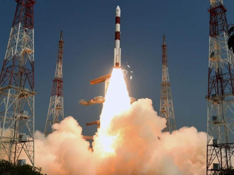 The PSLV-C46 rocket lifting off from Sriharikota with RISAT-2B. Image: ISRO