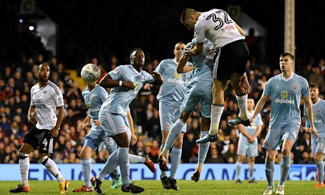 Although marginally offside, Aleksandar Mitrovic's header was allowed to stand and was the winner for Fulham against Sunderland.